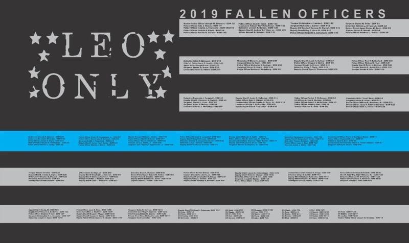 2019 Fallen Officers / End of Watch Flag