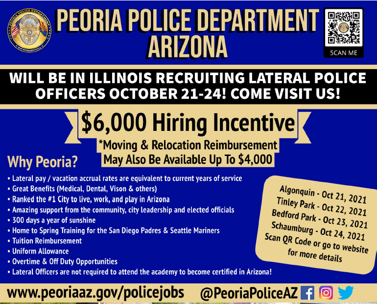 Peoria Police Department is Hiring!